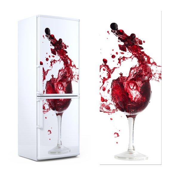 Wandtattoos: Glas Wein