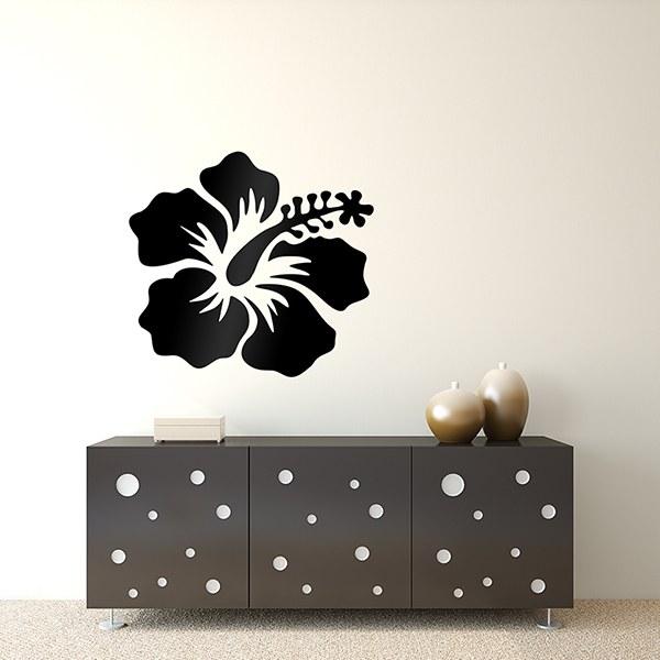 wandtattoo hibiskusbl te. Black Bedroom Furniture Sets. Home Design Ideas