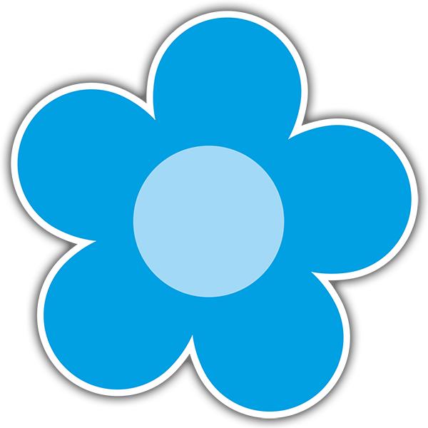 Wandtattoos: Blaue Blume