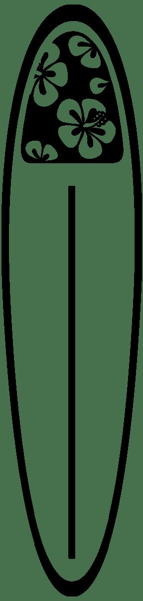 Wandtattoos: Surfboard