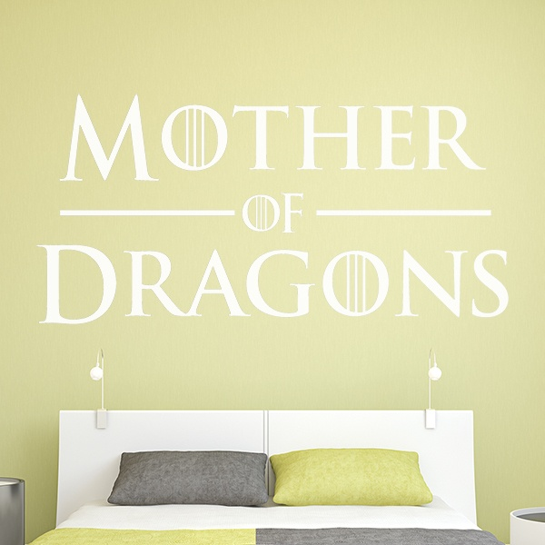 Wandtattoos: Kopfteil Mother of Dragons
