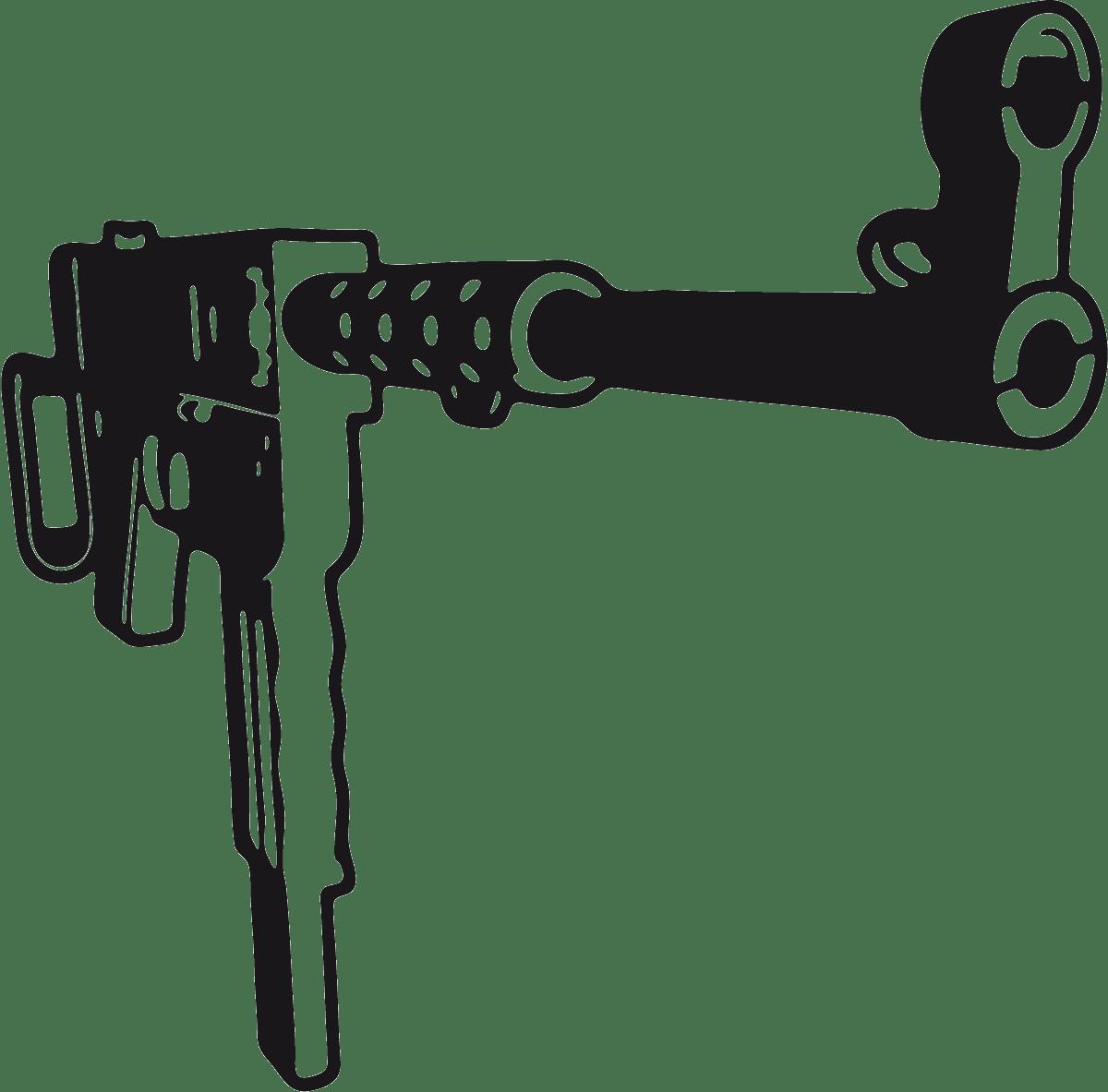 Aufkleber: Waffe 9