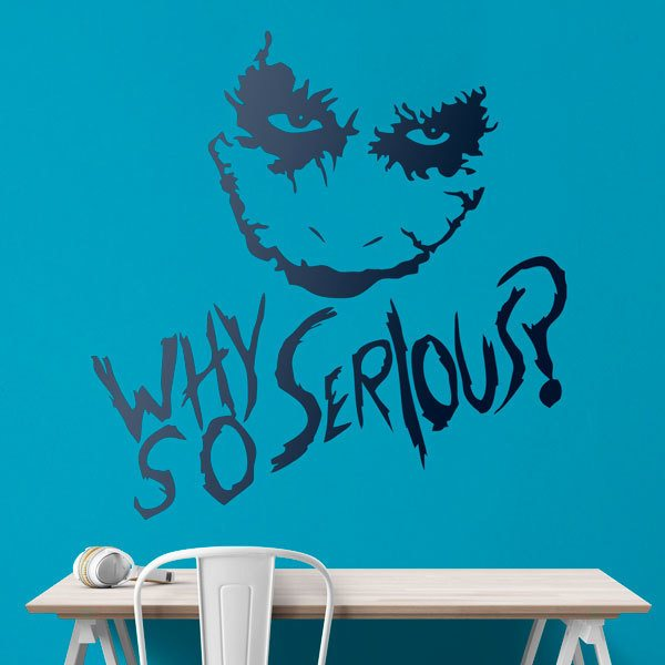 Wandtattoos: Why so serious? (Joker, Batman)