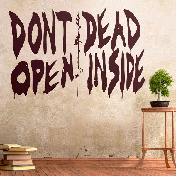 Wandtattoos: Don't open, dead inside (Walking dead)