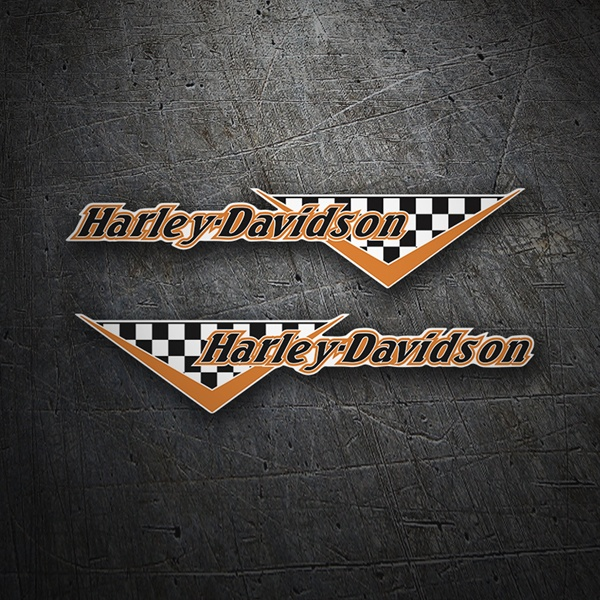 Aufkleber: Kit Harley Davidson Flag Checker
