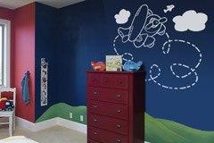 Kinderzimmer Wandtattoo: Plane 3