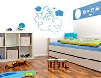 Kinderzimmer Wandtattoo: Plane 4