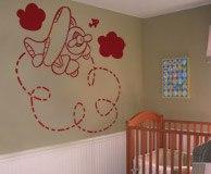 Kinderzimmer Wandtattoo: Plane 5