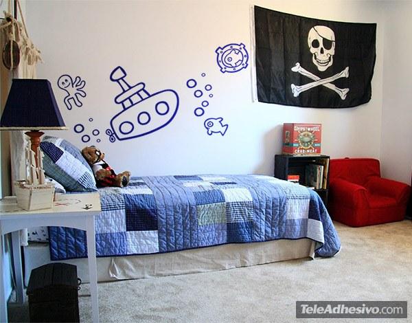 Kinderzimmer Wandtattoo: Submarino