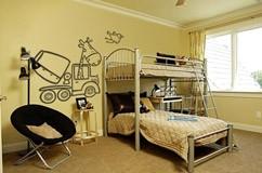 Kinderzimmer Wandtattoo: Construcción 3