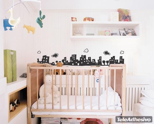 Kinderzimmer Wandtattoo: City