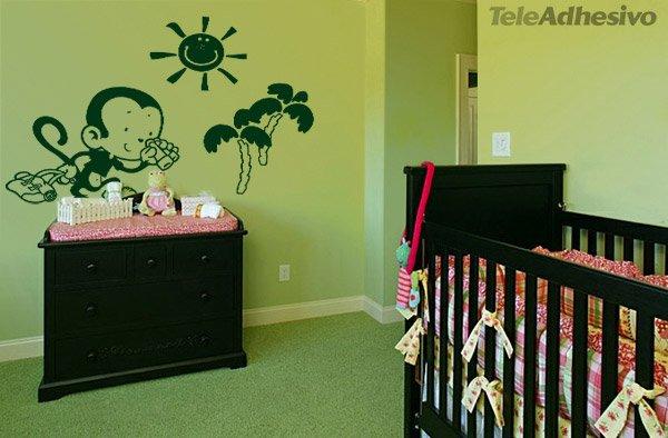 Kinderzimmer Wandtattoo: Monito