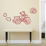 Kinderzimmer Wandtattoo: Motocicleta 0