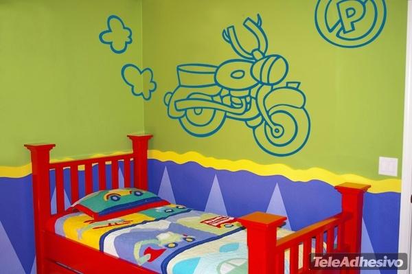 Kinderzimmer Wandtattoo: Motocicleta