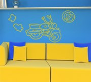 Kinderzimmer Wandtattoo: Motocicleta 2