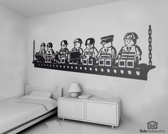Kinderzimmer Wandtattoo: Construction Lunch