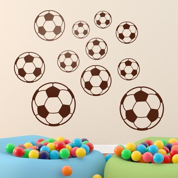 Kinderzimmer Wandtattoo: Kit Fußbälle