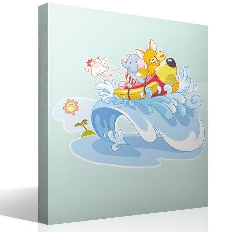 Kinderzimmer Wandtattoo: Tiere auf See