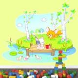 Kinderzimmer Wandtattoo: Tiere Angeln 4