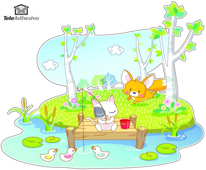 Kinderzimmer Wandtattoo: Tiere Angeln
