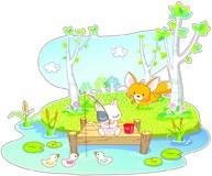 Kinderzimmer Wandtattoo: Tiere Angeln 5