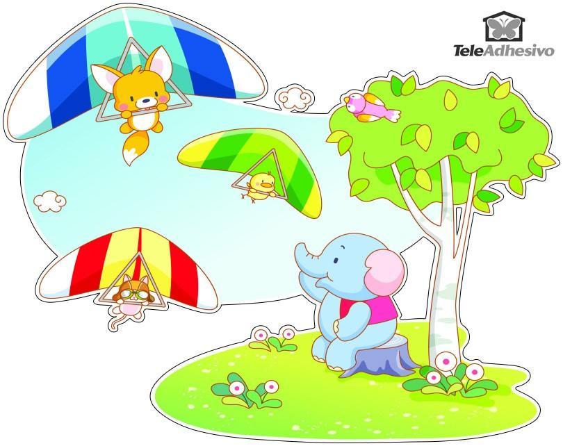 Kinderzimmer Wandtattoo: Drachenfliegen Tiere