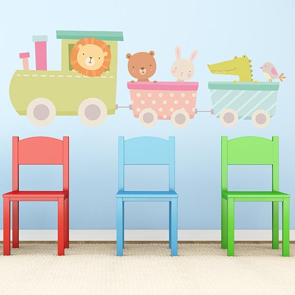 Wandtattoo Babyzimmer Zug Der Tiere Webwandtattoo Com
