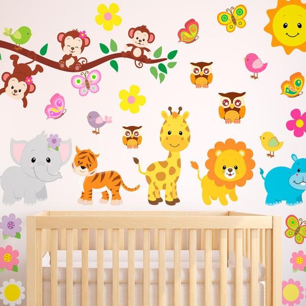 Wandtattoo babyzimmer tiere - Dibujos para paredes infantiles ...