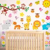 Kinderzimmer Wandtattoo: Kit Dschungeltiere 1