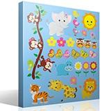 Kinderzimmer Wandtattoo: Kit Dschungeltiere 2