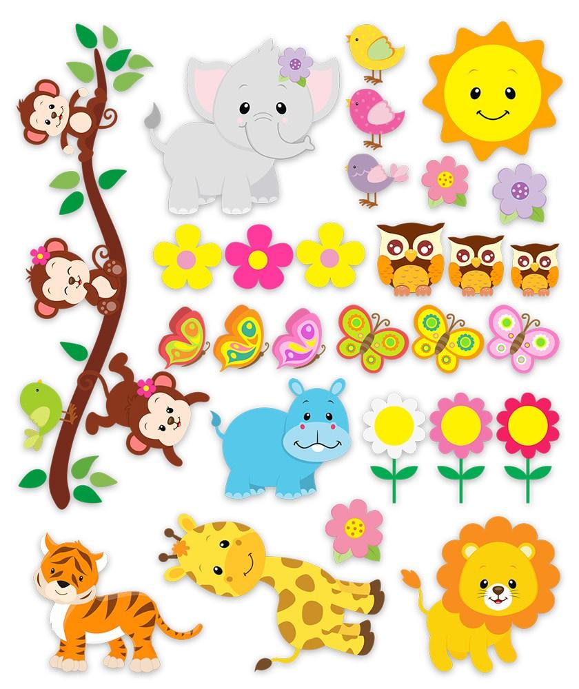 Kinderzimmer Wandtattoo: Kit Dschungeltiere