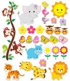 Kinderzimmer Wandtattoo: Kit Dschungeltiere 3