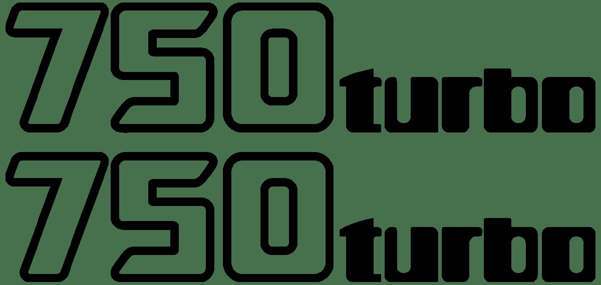 Aufkleber: GPZ-750-Turbo-1985, 750-turbo