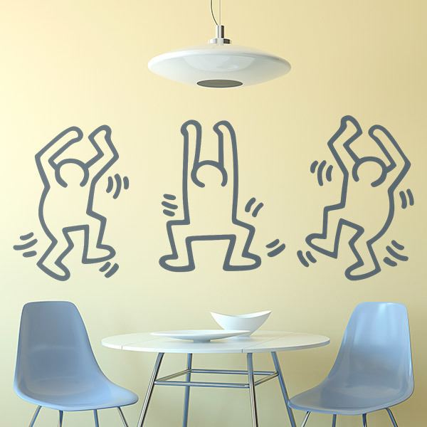 Wandtattoos: Dancing Men