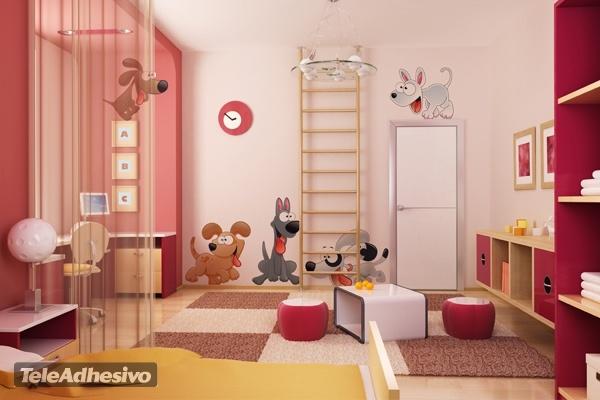 Kinderzimmer Wandtattoo: Kit 7 Welpen