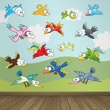 Kinderzimmer Wandtattoo: Vögel 0