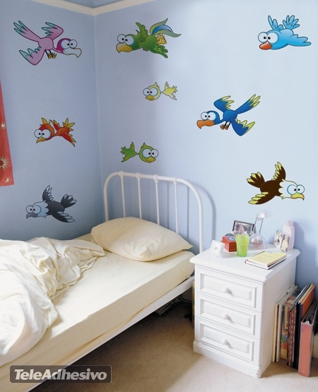 Kinderzimmer Wandtattoo: Vögel