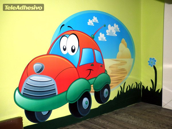 Kinderzimmer Wandtattoo: Ruedicar Straße