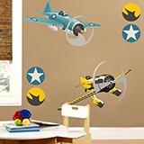 Kinderzimmer Wandtattoo: Race planes 01 4