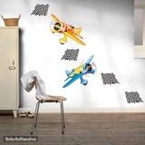 Kinderzimmer Wandtattoo: Race planes 05 3