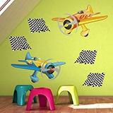 Kinderzimmer Wandtattoo: Race planes 05 4