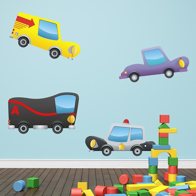 Kinderzimmer Wandtattoo: Little cars 01