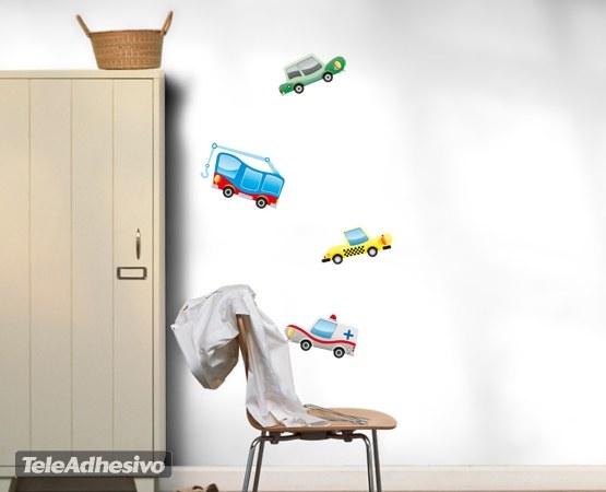 Kinderzimmer Wandtattoo: Little cars 02