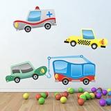 Kinderzimmer Wandtattoo: Little cars 02 4