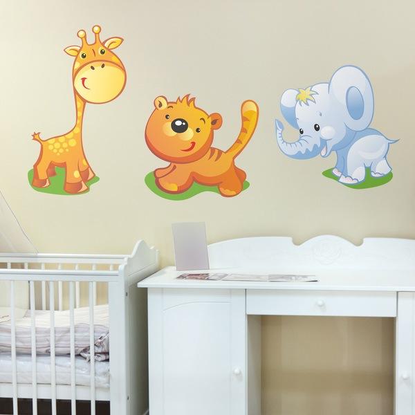 Wandtattoo Kinderzimmer Sets Tiere | WebWandtattoo.com