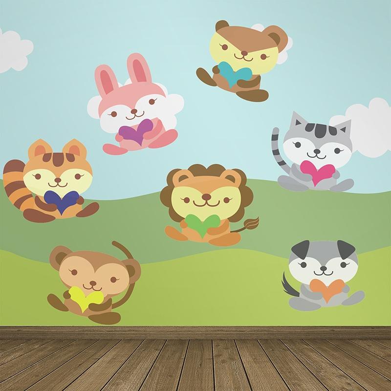 Kinderzimmer Wandtattoo: Animals