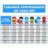 Kinderzimmer Wandtattoo: Heroes Kit 3