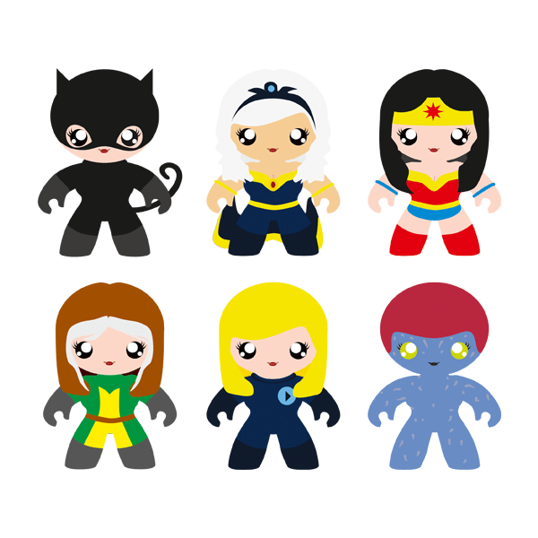 Kinderzimmer Wandtattoo: Heroines Kit