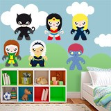 Kinderzimmer Wandtattoo: Heroines Kit 1