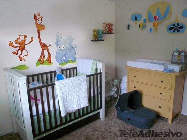 ... Zoo 1 Wandtattoo Kinderzimmer Tiere Set Zootiere ...